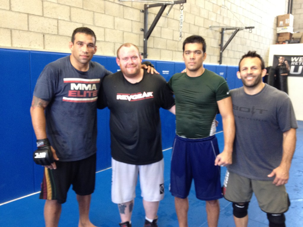 Fabricio Werdum, Danny Richards,lyoto machida and Kenny Johnson Training at The Werdum Combat Team School in Venice CA