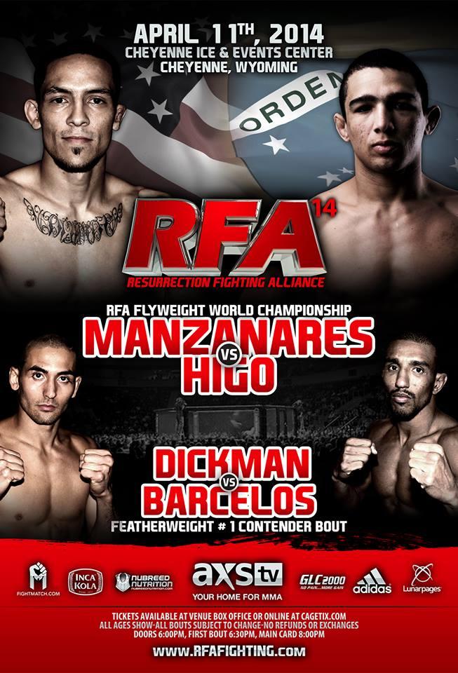MMA UFC BJJ Mixed Martial Arts RFA