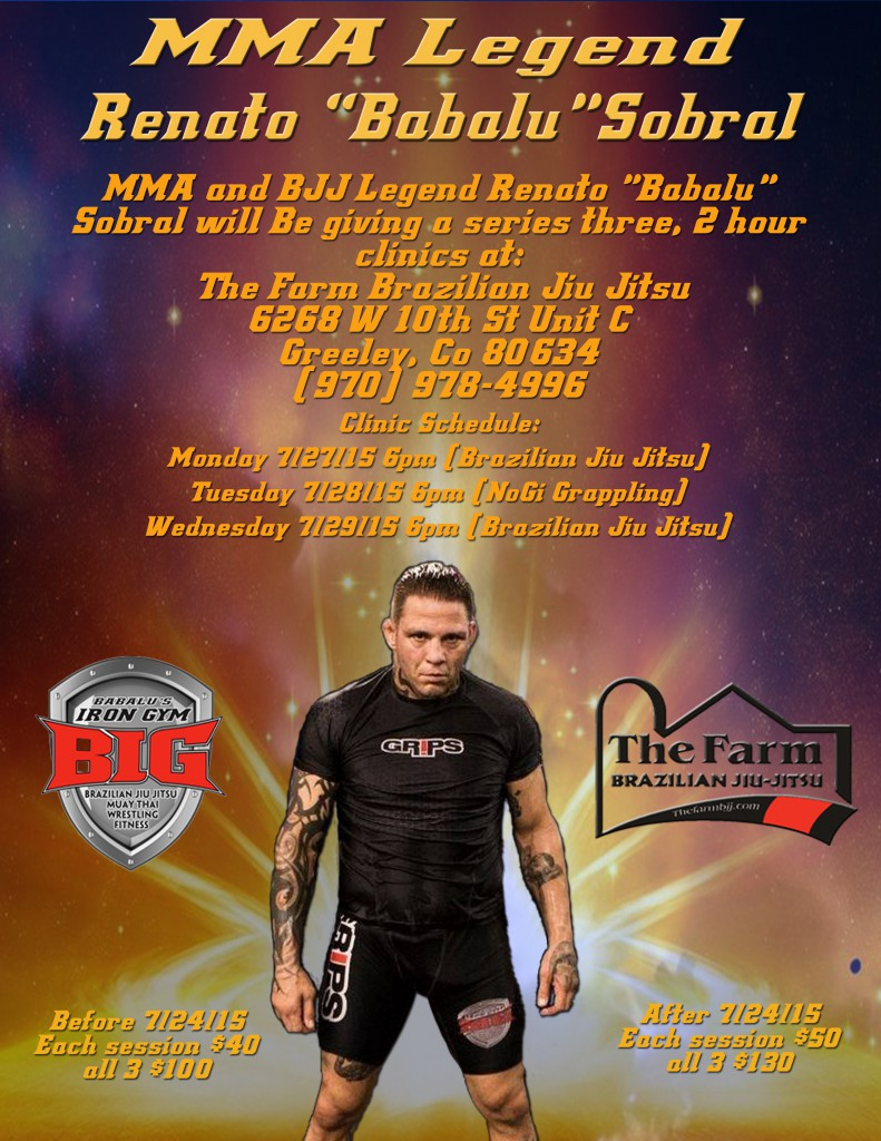 "MMA and BJJ Legend Renato ""Babalu"" Sobral Teaching at The Farm Brazilian Jiu Jitsu"